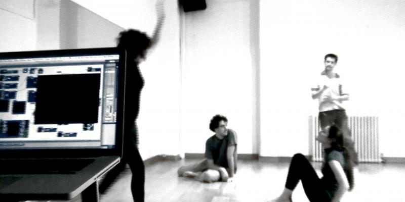 Aula de Danza Interactiva en Estudio 3 . hybridart 2009
